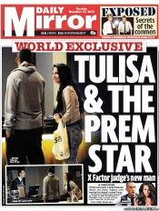 Daily Mirror () Newspaper Front Page for 15 November 2012