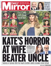 Daily Mirror () Newspaper Front Page for 15 November 2017