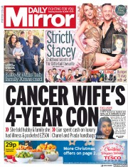 Daily Mirror () Newspaper Front Page for 15 December 2018