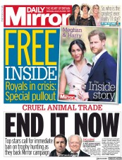 Daily Mirror (UK) Newspaper Front Page for 15 January 2020