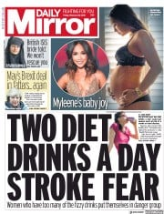 Daily Mirror () Newspaper Front Page for 15 February 2019