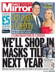 Daily Mirror front page for 15 July 2020