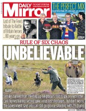 Daily Mirror front page for 15 September 2020