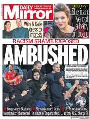 Daily Mirror () Newspaper Front Page for 16 October 2019