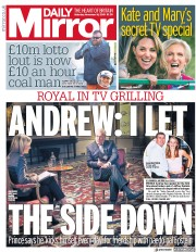 Daily Mirror (UK) Newspaper Front Page for 16 November 2019