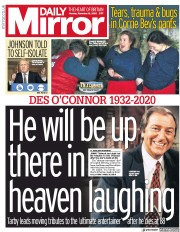 Daily Mirror front page for 16 November 2020