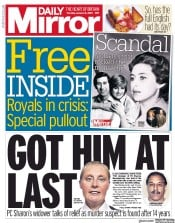 Daily Mirror (UK) Newspaper Front Page for 16 January 2020