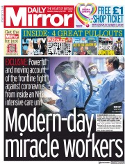 Daily Mirror front page for 16 January 2021