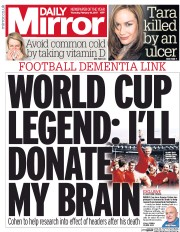 Daily Mirror (UK) Newspaper Front Page for 16 February 2017