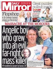 Daily Mirror () Newspaper Front Page for 16 March 2019