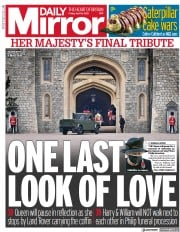 Daily Mirror () Newspaper Front Page for 16 April 2021