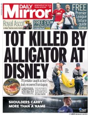 Daily Mirror () Newspaper Front Page for 16 June 2016