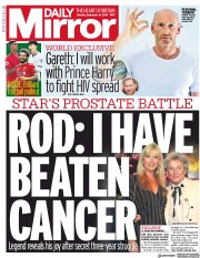 Daily Mirror (UK) Newspaper Front Page for 16 September 2019