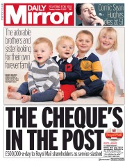 Daily Mirror (UK) Newspaper Front Page for 17 October 2017
