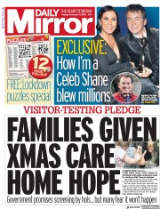 Daily Mirror front page for 17 November 2020