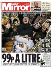 Daily Mirror (UK) Newspaper Front Page for 17 December 2014