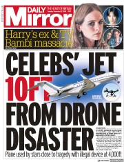 Daily Mirror () Newspaper Front Page for 17 December 2019