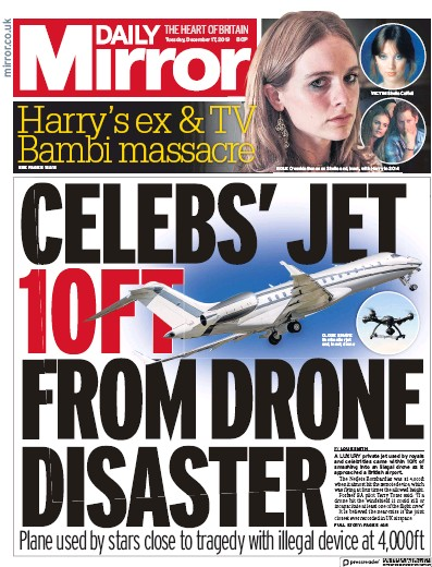 Daily Mirror Newspaper Front Page (UK) for 17 December 2019