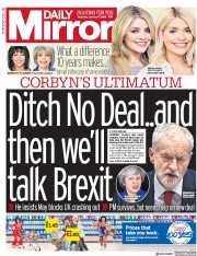 Daily Mirror (UK) Newspaper Front Page for 17 January 2019