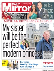 Daily Mirror (UK) Newspaper Front Page for 17 May 2018