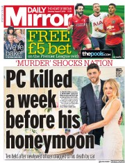 Daily Mirror (UK) Newspaper Front Page for 17 August 2019