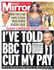Daily Mirror (UK) Newspaper Front Page for 17 September 2019