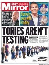 Daily Mirror front page for 17 September 2020