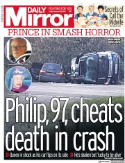 Daily Mirror (UK) Newspaper Front Page for 18 January 2019