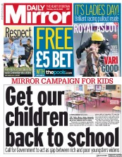 Daily Mirror front page for 18 June 2020