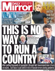 Daily Mirror (UK) Newspaper Front Page for 18 August 2020