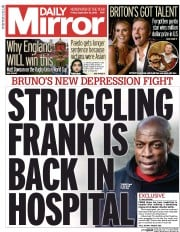 Daily Mirror () Newspaper Front Page for 18 September 2015