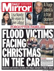 Daily Mirror (UK) Newspaper Front Page for 19 December 2019
