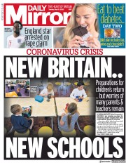 Daily Mirror front page for 19 May 2020