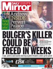 Daily Mirror (UK) Newspaper Front Page for 19 August 2019