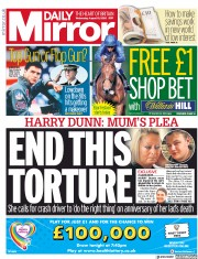 Daily Mirror (UK) Newspaper Front Page for 19 August 2020