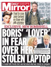 Daily Mirror (UK) Newspaper Front Page for 1 October 2019