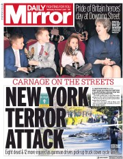 Daily Mirror (UK) Newspaper Front Page for 1 November 2017