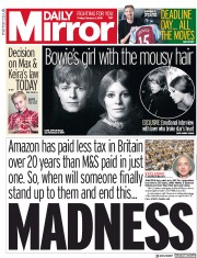 Daily Mirror () Newspaper Front Page for 1 February 2019