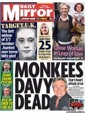 Daily Mirror (UK) Newspaper Front Page for 1 March 2012