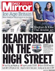 Daily Mirror (UK) Newspaper Front Page for 1 March 2018