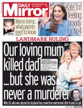 Daily Mirror () Newspaper Front Page for 1 March 2019