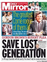 Daily Mirror (UK) Newspaper Front Page for 1 March 2021