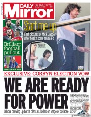 Daily Mirror (UK) Newspaper Front Page for 1 April 2019