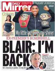 Daily Mirror (UK) Newspaper Front Page for 1 May 2017