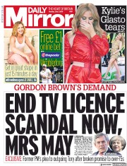 Daily Mirror (UK) Newspaper Front Page for 1 July 2019