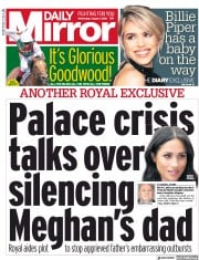 Daily Mirror (UK) Newspaper Front Page for 1 August 2018