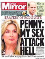 Daily Mirror (UK) Newspaper Front Page for 20 October 2017