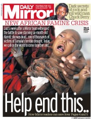 Daily Mirror (UK) Newspaper Front Page for 20 March 2017