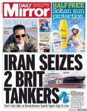 Daily Mirror (UK) Newspaper Front Page for 20 July 2019