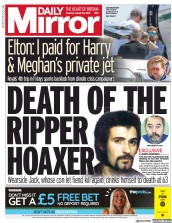 Daily Mirror (UK) Newspaper Front Page for 20 August 2019
